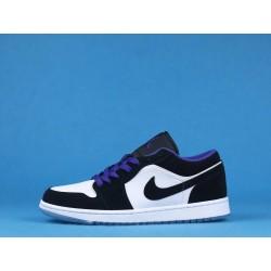 "Air Jordan 1 Low ""Concord"" 553558-108 Black Purple White"