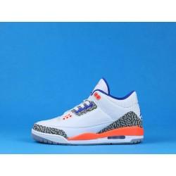 "Air Jordan 3 ""Knicks"" 136064-148 White Orange Blue"