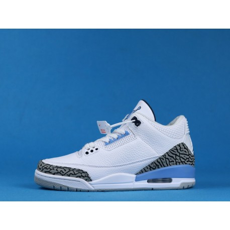 "Air Jordan 3 ""UNC"" CT8532-104 Valor Blue White Black"