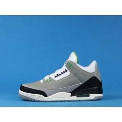 "Air Jordan 3 ""Chlorophyll"" 136064-006 Tinker Gray Black Green"
