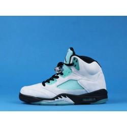 """Air Jordan 5 """"Island Green"""" CN2932-100 White Blue"""