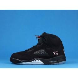 """Air Jordan 5 """"Paris Saint Germain"""" AV9175-001 Black Silver"""