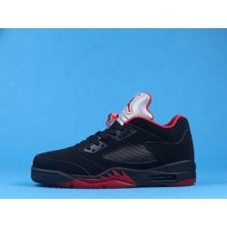 """Air Jordan 5 Low """"Alternate 90"""" 819171-001 Black Red"""