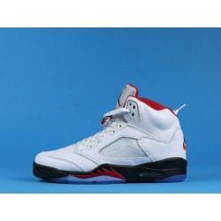 "Air Jordan 5 ""Fire Red"" DA1911-102 White Red"