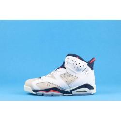 "Air Jordan 6 ""Tinker"" 384664-104 White Blue Red"