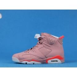 "Aleali May x Air Jordan 6 ""Millennial Pink"" CI0550-600 Pink White"
