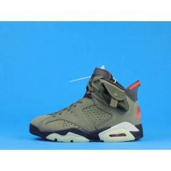 "Travis Scott x Air Jordan 6 ""Olive"" CN1084-200 Green Orange"