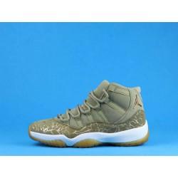 "Air Jordan 11 ""Olive Lux"" AR0715-200 Brown Gold"
