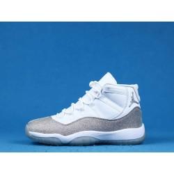 """Air Jordan 11 """"Metallic Silver"""" AR0715-100 White Silver"""