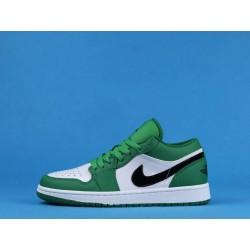 "Air Jordan 1 Low ""Pine Green"" 553558-301 White Green"