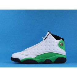 "Air Jordan 13 ""Lucky Green"" DB6537-113 White Green Black"