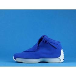 """Air Jordan 18 """"Blue Suede"""" AA2494-401 Blue White"""
