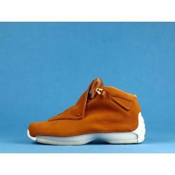 "Air Jordan 18 ""Orange Suede"" AA2494-801 Orange White"