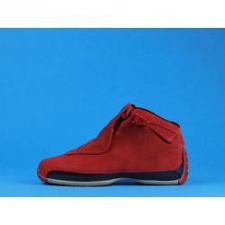 """Air Jordan 18 """"Red Suede"""" AA2494-601 Red Black"""
