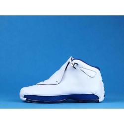 "Air Jordan 18 ""White Sport Royal"" AA2494-106 White Blue"