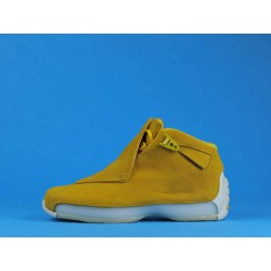 "Air Jordan 18 ""Yellow Suede"" AA2494-701 Yellow White"