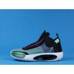 """Air Jordan 34 """"Blue Void"""" BQ3381-400 Black White Green"""