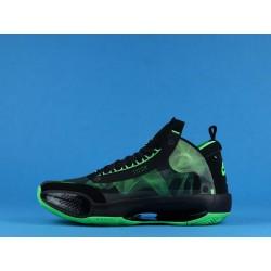 "Air Jordan 34 Eclipse ""Paranorman"" BQ3381-300 Black Green"