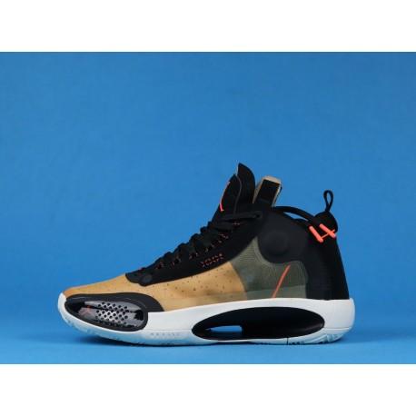 "Air Jordan 34 Eclipse ""Amber Rise"" BQ3381-800 Black Yellow"