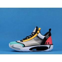 "Air Jordan 34 Low ""Guo Ailun"" CZ7748-100 Pink Orange Blue"