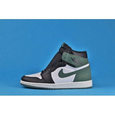 """Air Jordan 1 High """"Clay Green"""" 555088-135 Green Black White"""