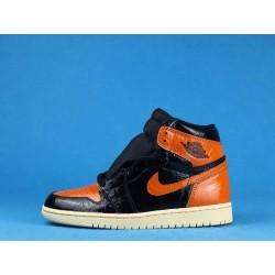 "Air Jordan 1 High ""Shattered Backboard 3.0"" 555088-028 Orange Black"