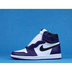 """Air Jordan 1 High """"Court Purple"""" 555088-500 White Purple"""