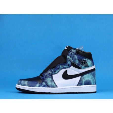 "Air Jordan 1 High ""Tie-Dye"" CD0461-100 Blue Black White"