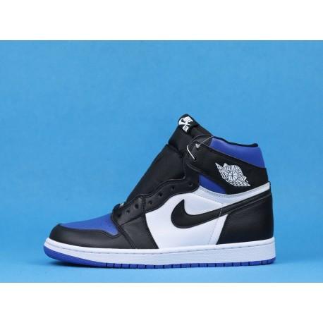 "Air Jordan 1 High ""Game Royal Toe"" 555088-041 Blue Black White"