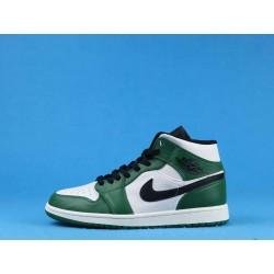 "Air Jordan 1 Mid ""Multi-Color"" 852542-301 Green White Black"