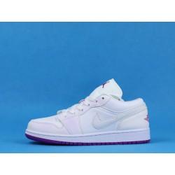 "Air Jordan 1 Low ""Court Purple"" 555112-ID White Purple"