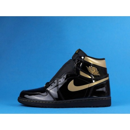 "Air Jordan 1 High ""Black Metallic Gold"" 555088-032 Black Gold"