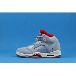 "Trophy Room x Air Jordan 5 ""Ice Blue"" CL1899-107 Red Blue"