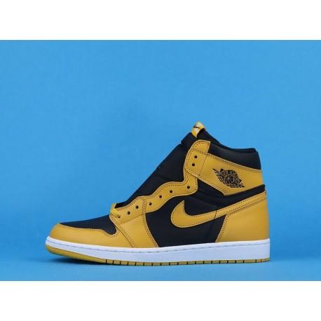 "Air Jordan 1 High OG ""Pollen"" 555088-701 Black Yellow 40-47"