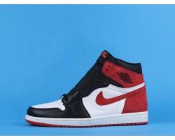 "Air Jordan 1 High ""Track Red"" 555088-112 Black Red White 40-47"