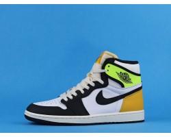 "Air Jordan 1 High OG ""Volt Gold"" 555088-118 Black Yellow 36-47"