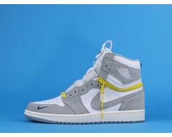 "Air Jordan 1 High Switch ""Light Smoke Grey"" CW6576-100 Grey White 36-47"