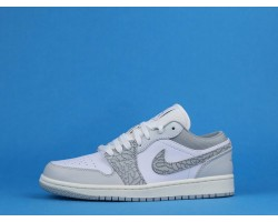 "Air Jordan 1 Low ""Elephant Print"" DH4269-100 White Grey 36-46"