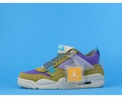 "Union x Air Jordan 4 ""Desert Moss"" DJ5718-300 Yellow Blue Purple 40-47"