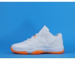 "Air Jordan 11 Low ""Bright Citrus"" AH7860-139 White Orange 36-44"