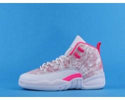 "Air Jordan 12 GS ""Arctic Punch"" 510815-101 Pink White 36-40"
