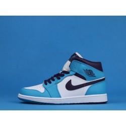 """Air Jordan 1 Mid """"Charlotte Hornets"""" 554724-415 Blue White"""