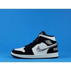 "Air Jordan 1 Mid ""Equality BHM"" 8852542-010 Black White"