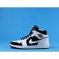 """Air Jordan 1 Mid """"Tuxedo"""" 554724-113 Premium Black White"""