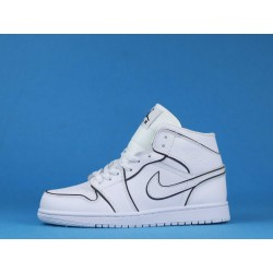 "Air Jordan 1 Mid ""Iridescent Reflective"" CK6587-100 White Black"